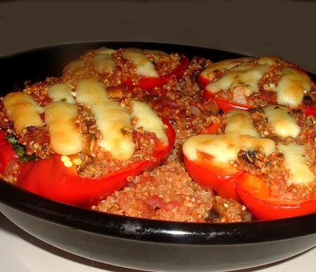 Quinoa Stuffed Bell Peppers. Photo by Bergy