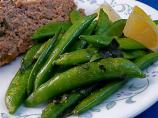 Sugar Snap Peas With Basil and Lemon