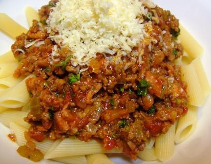 Bolognese Sauce. Photo by JustJanS
