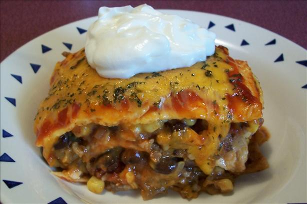 Beefy Layered Burrito Casserole. Photo by *Parsley*