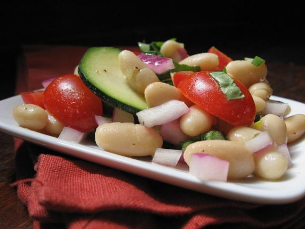 White Bean Zucchini Basil Salad. Photo by ms_bold