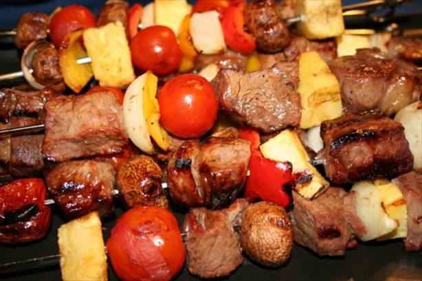 Sweet Steak Kabobs. Photo by ~Nimz~