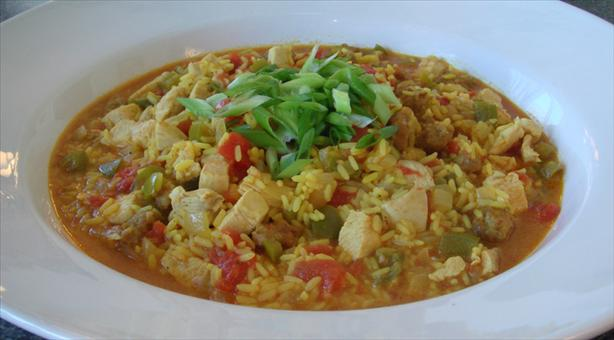 Simple Chicken and Sausage Paella. Photo by Sous Chef Bentley