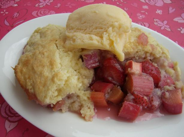 Easy Rhubarb Cobbler. Photo by Chef*Lee