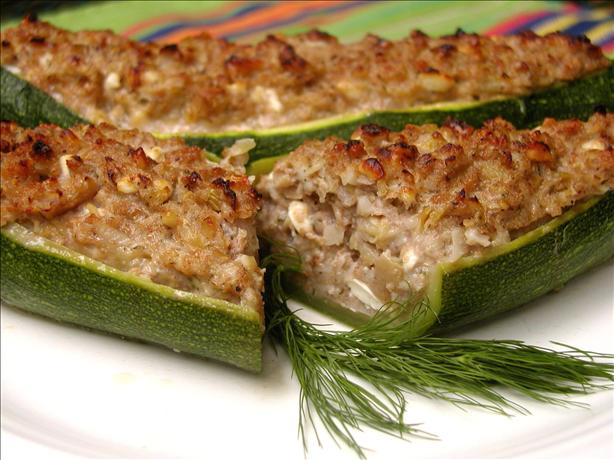 Stuffed Zucchini With Walnuts and Feta. Photo by GaylaJ