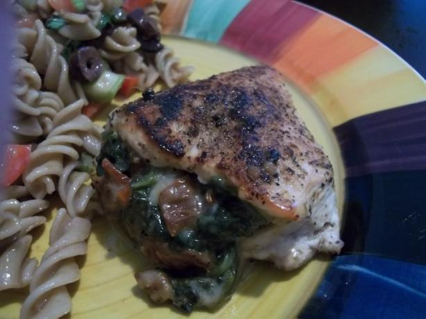 Chicken Breasts Stuffed With Spinach & Sun-Dried Tomatoes. Photo by rpgaymer