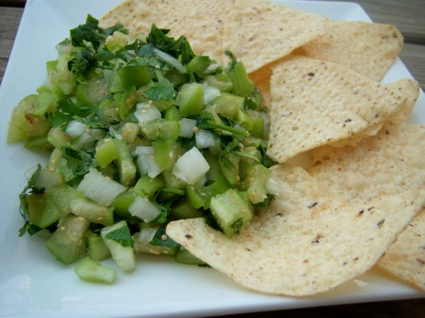 Tomatillo Salsa Fresca. Photo by *Parsley*