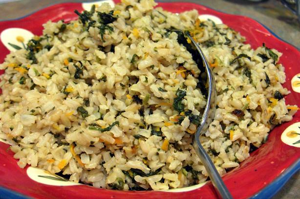 Spinach and Lemon Rice Pilaf. Photo by Derf