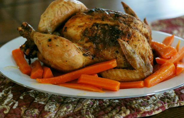 Lemon and Garlic Roast Chicken. Photo by Dine & Dish