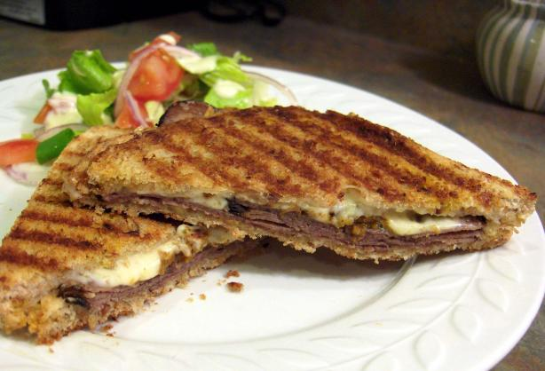 Beef Pesto Panini. Photo by Derf