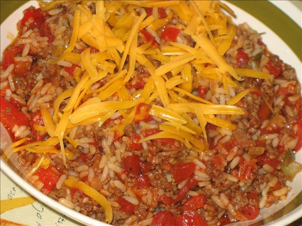 Hamburger-Rice  Skillet. Photo by Lori Mama
