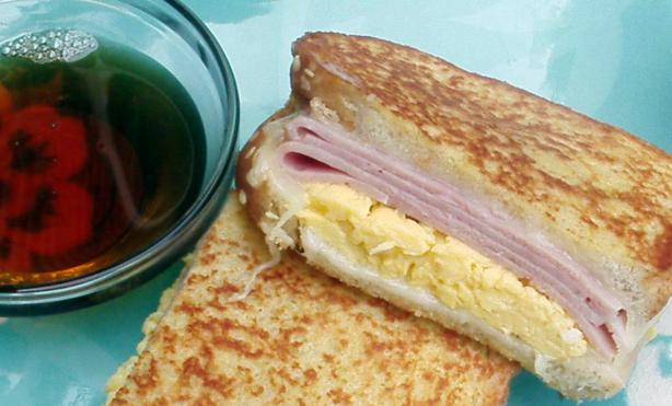 French Toast Breakfast Sandwich With Canadian Maple Syrup. Photo by ...