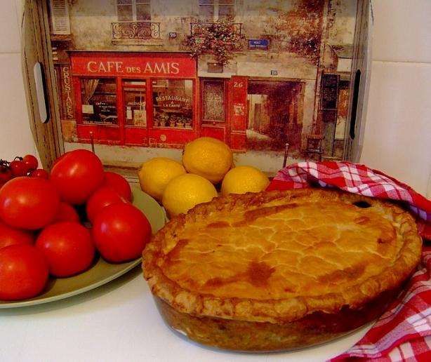 Chicken Pie, Traditional South African Style. Photo by Zurie