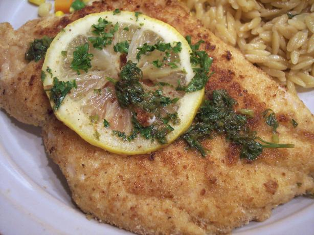 Chicken Scaloppine With Lemon Glaze  (Low Fat and Delicious!). Photo by Nif