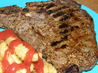 Marinated  Grilled New York Strip Steaks. Recipe by Marie