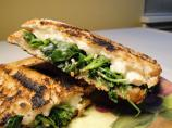 Grilled Brie Sandwiches With Greens and Garlic