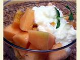 Cantaloupe With Honey Ginger Dressing