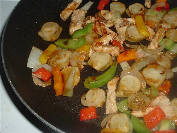 Jerusalem Artichoke Stir Fry. Photo by Bergy