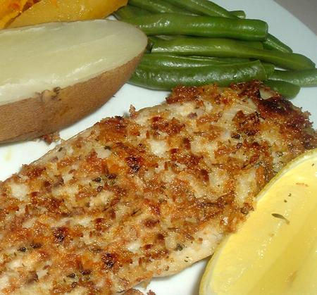 Tilapia With Onion Crust. Photo by Bergy