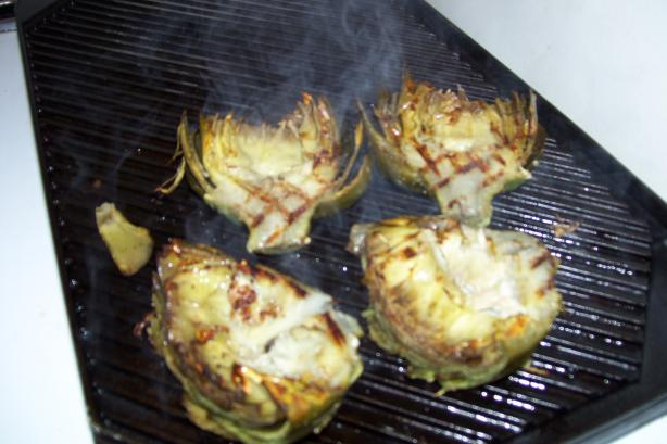 Garlic Grilled Artichokes. Photo by Huskergirl