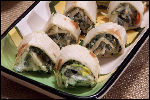 Spinach Dip Pinwheels. Photo by NcMysteryShopper