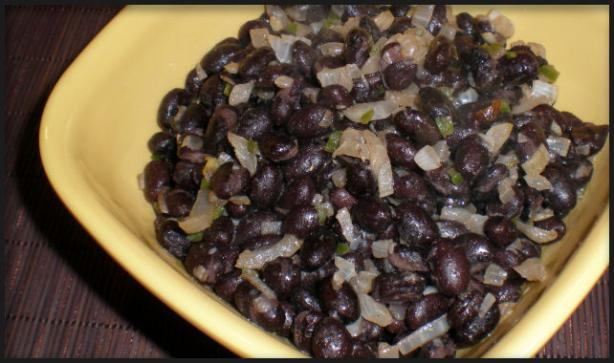 Black Bean Burrito Filling or Side Dish. Photo by Sandi (From CA)
