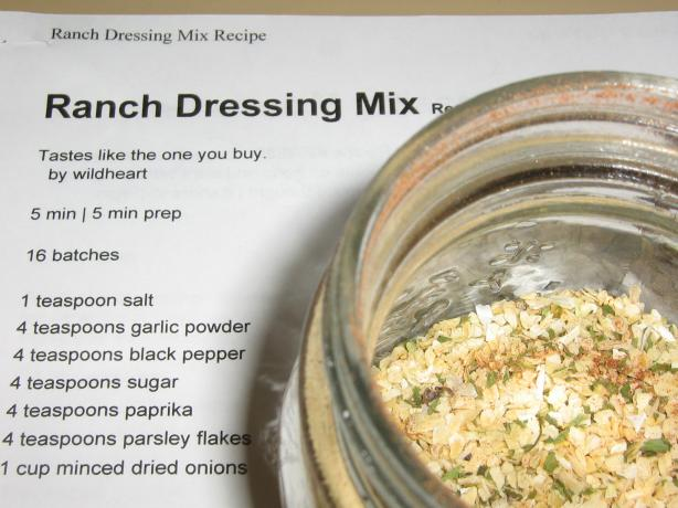 Ranch Dressing Mix. Photo by I'mPat