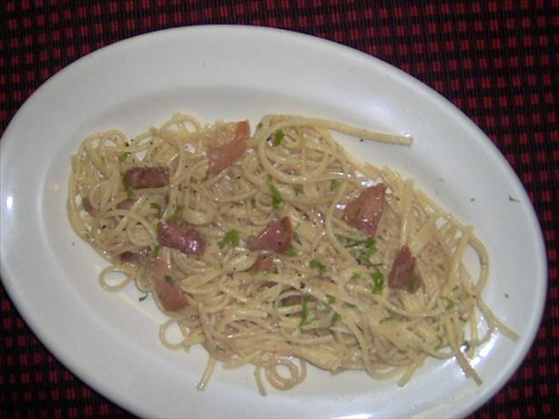 Spaghetti Alla Carbonara. Photo by sheri77