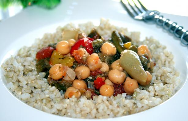 Roasted Vegetables With Chickpeas. Photo by **Tinkerbell**