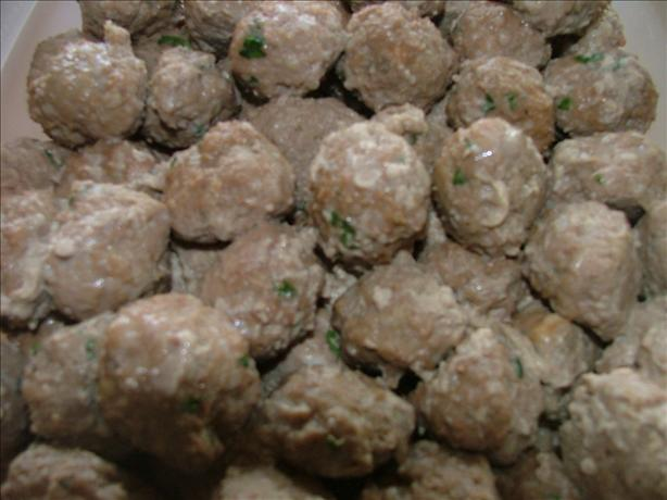 Garlic Italian Meatballs...for a Crowd!. Photo by A Messy Cook