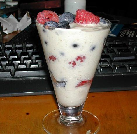 Berries With Banana Cream (Fat Free). Photo by MarraMamba