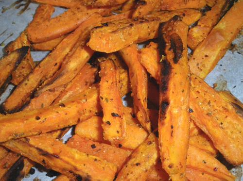 Oven Fried Sweet Potatoes. Photo by Bergy