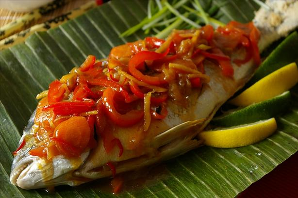 Chinese New Year Whole Fish With Sweet and Sour Vegetables. Photo by Thorsten
