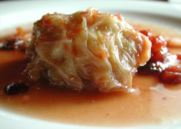 Stuffed Cabbage with Cranberry Sauce. Photo by Chef floWer