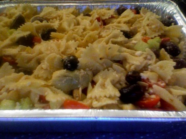 Greek Pasta Salad. Photo by Anna MHC