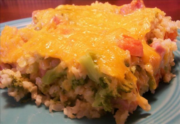 Easy Cheesy Ham and Veggie Rice Casserole-Diabetic. Photo by *Parsley*