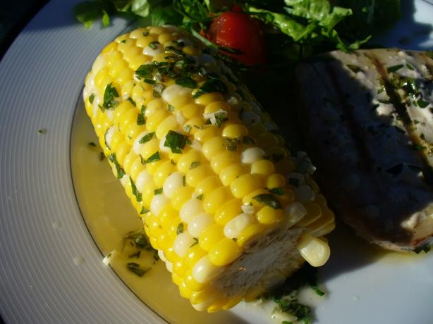 Greek-Style Corn on the Cob a La Evelyn. Photo by IngridH