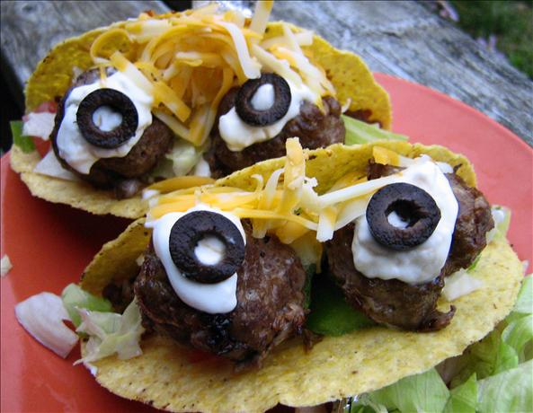 Spooky Eyeball Tacos (Johnny #5 Tacos). Photo by ~Leslie~