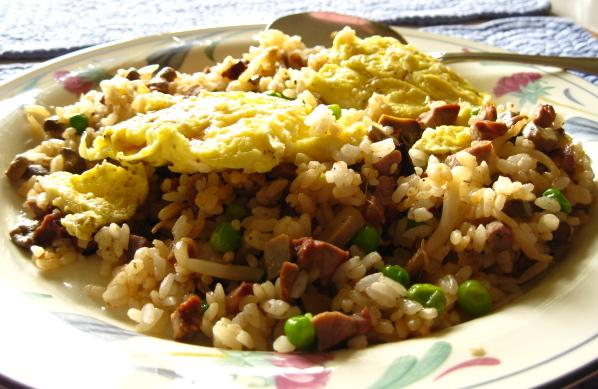 Korean &quot; Oma&quot; Fried Rice With Egg Topping. Photo by WiGal