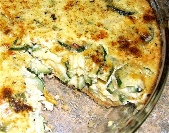 Zucchini 3-Cheese Quiche. Photo by Kathy228