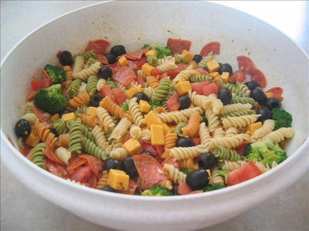 Pepperoni Pasta Salad. Photo by Mannymom