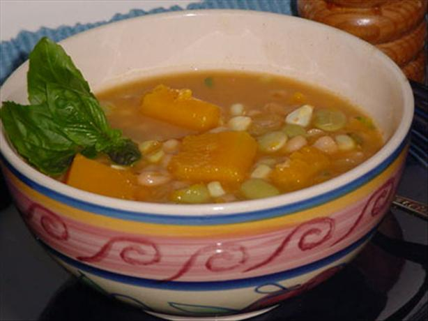Porotos Granados (Bean Stew). Photo by justcallmetoni