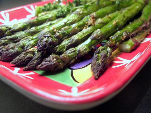 Thyme Roasted Asparagus. Photo by JustJanS