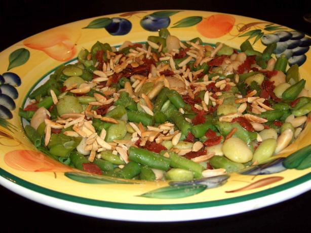 Mixed Beans With Bacon and Almonds. Photo by mersaydees