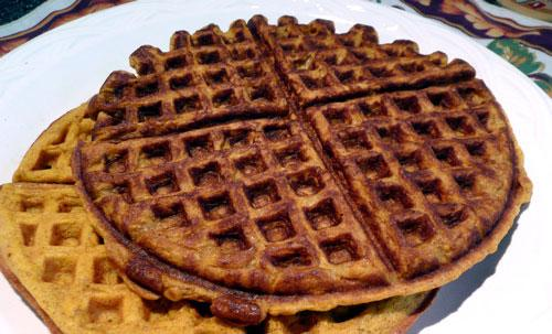 Wonderful Pumpkin Waffles. Photo by Mikekey