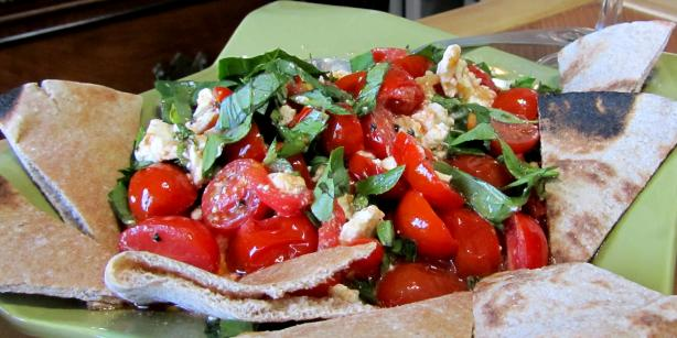 Baked Cherry Tomatoes and Feta. Photo by Rita~