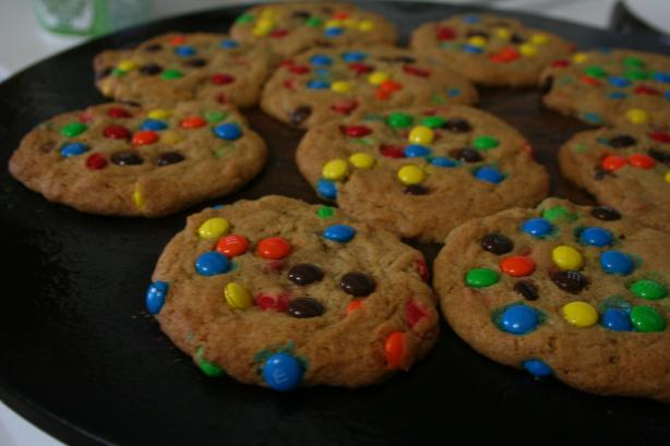 Mini M&M's (Or Chocolate Chip) Cookies. Photo by lolagran