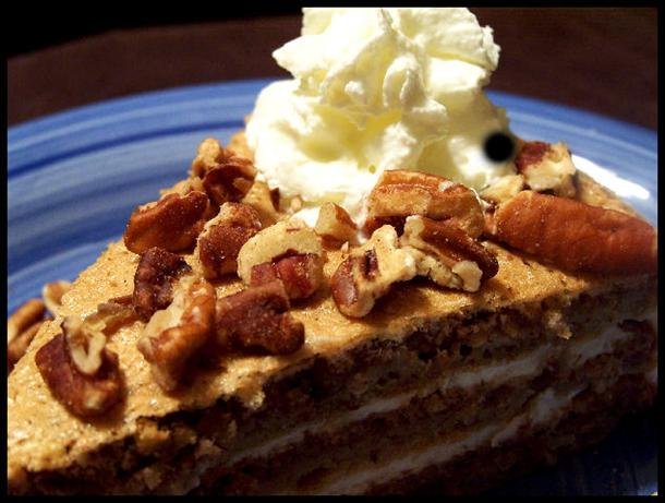 Austrian Walnut Torte With Coffee Whipped Cream. Photo by NcMysteryShopper