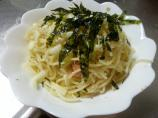 Tarako Spaghetti (Salted Cod Fish Roe Pesto With Pasta)