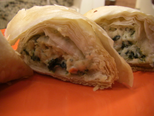 Spinach Phyllo Roll Ups. Photo by puppitypup